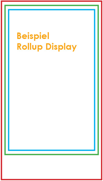 Rollup Display Datenanlieferung Großformatdruck Digitaldruck